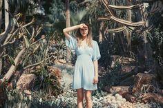 'Margita' Mini Blue crepe Ddress #thisisradish #dreamerswearsunlight  Photography - Robin Mellor Hair / Make-up - Terri Capon Model - Aveen @ Milk