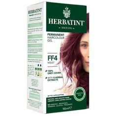 Permanentní barva na vlasy Fialová FF4 Herbatint - Krásná Každý Den Herbal Extracts, Cover Gray, Herbalism, Aqua, Hair Color, Fragrance, Dreadlocks, Hair Styles, Products