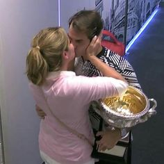 The 18th GS-title. Celebrating with Mirka.