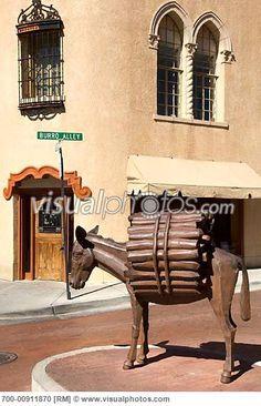 Burro Statue, Santa Fe, New Mexico, USA