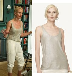 The Other Woman movie: Carly (Cameron Diaz) wore this silver, grey metallic tank top by Ralph Lauren