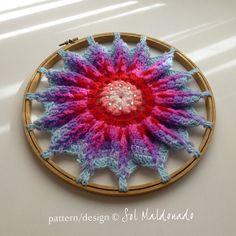 Hoop Crochet Pattern Mandala PDF  floor pillow or crochet by bySol, $6.00