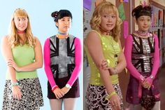 Travel back to middle school with this Disney Channel Show-themed Lizzie McGuire + Miranda Sanchez DIY Halloween best friend costume idea.