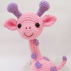 Gigi the Giraffe amigurumi crochet pattern by Sweet N' Cute Creations