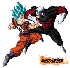 Goku Vs Jiren by GhoulFire on DeviantArt Evil Goku, Goku And Gohan, Dragon Ball Z Shirt, Dragon Z, Dragons Crown, Dbz Characters, Naruto Teams, Deviantart, Kaneki