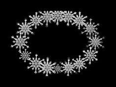 Фон для видеомонтажа Овальная рамка из снежинок HD