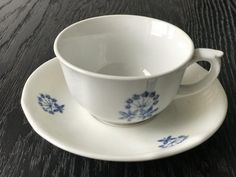 Lassi, Bone China, Cup And Saucer, Finland, Cupboard, Retro Vintage, Tea Cups, Nostalgia, Blue And White