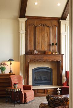 Custom Fireplace Surround And Entertainment Center By Woodland