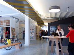 Office de tourisme | stephane chalmeau Information Center, Tourist Information, Workspace Inspiration, Open Office, Outdoor Decor, Stephane, Design, Home Decor, Pop