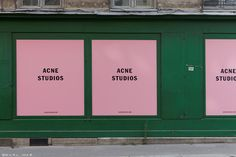 acne studios those colors Sign Design, Web Design, Store Design, Graphic Design, Brand Design, Design Trends, Graphic Art, Design Ideas, Environmental Graphics
