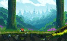 One of the challenging part while I was creating art assets is level designs are created independently from level designer. Starting from empty level to fully polished level with different art assets for different structured level design kept me busy. 2d Game Background, Animation Background, Game Level Design, Game Design, Game Environment, Environment Concept, Forest Games, 2d Game Art, 2d Art