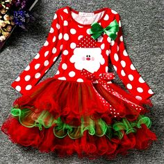 New boutique christmas dress outfit 18 months. This adorable Christmas dress features a green and red tulle tutu polka dots and a Santa it's absolutely adorable Christmas Tutu Dress, Baby Girl Christmas Dresses, Baby Girl Dresses, Tutu Dresses, Party Dresses, Tutus For Girls, Kids Outfits Girls, Kids Girls, Baby Girls