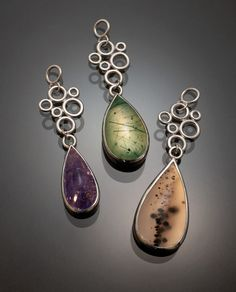 Montana Agate and Sterling Silver Necklace by GothamAtelier