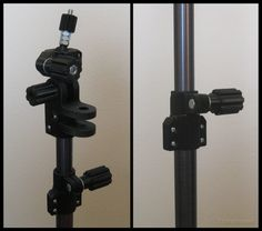 3D Printed Camera Mount Using Old Aluminum Curtain Rods for Tripod Tubing ~ 3D Printing .STL files to make your own :-)