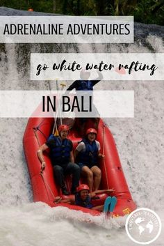If you're planning a trip to Bali then you can't miss the chance to go white water rafting! What better way to spend a morning than bumping your way down a river and falling off edges, right!? White water rafting in Bali | Ubud | Adventures in Bali | Things to do in Bali | Where to go in Bali | Indonesia | #travelbali #islandlife #adentures #explorebali #travelling #adrenaline
