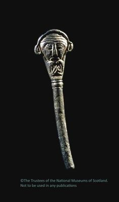 Golspie Pictish Pin, bronze, originally gilted, Golspie, Sutherland, Scotland, ca. 9th Century CE. (Photo by National Museums Scotland)  © National Museums Scotland