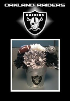 Awesome Diy Oakland Raiders Wedding Table Centerpiece