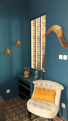 bleu canard salle de bain peinture murs pinterest green. Black Bedroom Furniture Sets. Home Design Ideas
