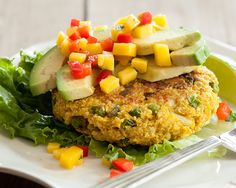 These Indian-spiced veggie burgers are a great way to switch up your burger routine. Stuffed with potato, cauliflower, cashews, peas and a dash of curry powder, these tasty burgers are satisfying and seriously delicious. Serve them with cilantro, mango salsa or sliced avocado. Tips for Freezing: Pla...