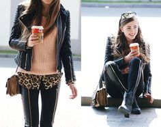 I love girls with a tough style but has feminine flare, and this girl is definitely rocking it hard.