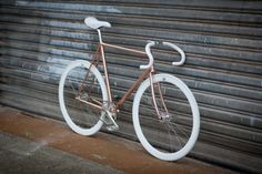 This bike brings tears to my eyes - it's just so beautiful... It's made out of bloody copper pipes!