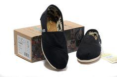 Cheap Toms Classics Women shoes Earthwise Slate Canvas black
