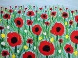 Artsonia Art Exhibit :: 2nd Gr. Poppy Field Paintings Inspired by the Wizard of Oz