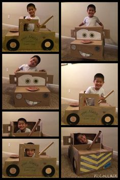 mater - cardboard car for the race