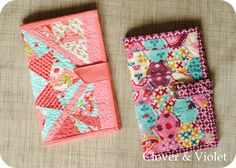 Kindle Cover Tutorial both patchwork from Clover and Violet Sewing Hacks, Sewing Tutorials, Sewing Patterns, Tutorial Sewing, Quilting Tutorials, Fabric Crafts, Sewing Crafts, Sewing Projects, Kindle Fire Cover