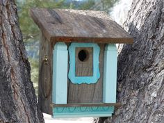 Birdhouse Handcrafted Rustic Cedar for Bluebirds by 3FeatheredFriends on Etsy
