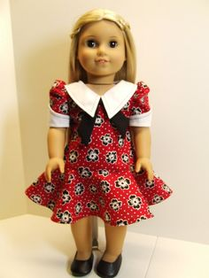70's Dress for American Girl Doll Julie or Ivy, by agseamstress via Etsy  $38.00