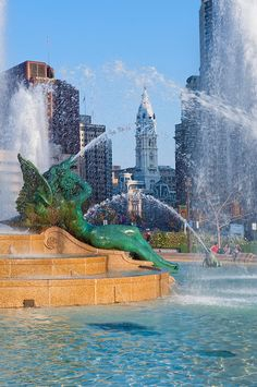 Swann Memorial Fountain - Philadelphia. Designed by Alexander Stirling Calder 1920-24