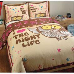 I love the night life - kids duvet set