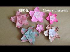 折り紙の桜の花 折り方(niceno1)Origami Flower Cherry blossoms sakura - YouTube