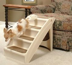 Solvit Plus Pet Stairs PupSTEP, Cat Dog Ramp Steps, -- Find out more details by clicking the image : Cat furniture Dog Steps For Bed, Pet Steps, Small Puppies, Small Dogs, Small Breed, Cat Stairs, House Stairs, Diy 2019, Pet Ramp