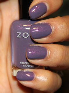 """Zoya Lotus...nice color and similar to """"Tru"""" but more of a cool tone. Both of those colors complement each other very well, if you wanted to do an accent nail."""