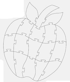 Best 11 An Apple. Puzzle Piece Crafts, Puzzle Pieces, Drawing Apple, Wood Crafts, Paper Crafts, Bird Template, Felt Quiet Books, Scroll Saw Patterns, Busy Book