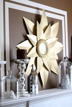 VERY EASY DIY sunburst mirror.