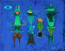 Alberto Quintanilla (1934-) Peruvian Art, Mexican Artists, Antique Photos, Contemporary Artists, Walking, Antiques, Blue, Painting, Artists