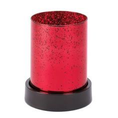 RED CYLINDER CANDLE LAMP Free Shipping!