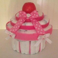 Cupcake Diaper Cake Baby Shower Please follow link to contact me!! Can be made in any color!!