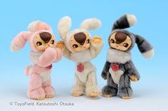 Toysfield's Meigurumi Usagi Kuma!  Love the Cherryblossom one. <3