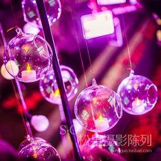 Оптовая цена одного отверстия полой пластмассовый шарик прозрачный акриловый окно Рождество LOB свадебной фотографии реквизита
