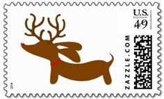 Everyday is a bit more merry and way more bright with a dachshund around, so go on and wienerize your holiday with our reindeer US postage stamps. - Sold in sets of 10 - 1st class USPS stamps (worth $