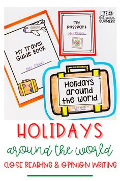 Are you looking for ways to celebrate holidays around the world in your classroom? In this post, I am sharing holidays around the world activities that focus on reading comprehension and opinion writing skills that are aligned with Common Core. This fun holiday craft involves close reading passages and a writing activity. Students create a holidays around the world passport and stamps sheet. There is a planning page, editing checklist, & final draft sheet. Perfect for a holiday bulletin board.