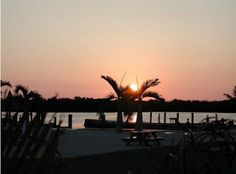 Sunset at graasy key is beautiful