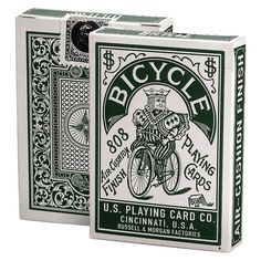 Bicycle Retro Playing Cards, Autobike Green Back