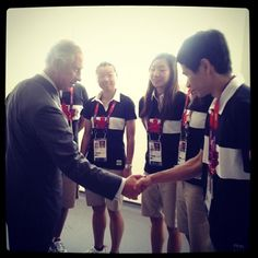 The Prince of Wales was so glad to have been able to meet members of the Canadian Badminton Team at Wembley!