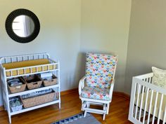 happiness by the yard Baby Furniture, Furniture Ideas, Bench Cushions, Crib Sheets, Cribs, Jenny Lind, Nursery, Yard, Cabinet