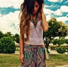 Pretty skirt/top combo